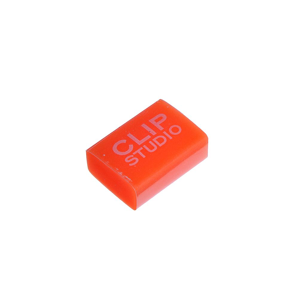 CLIP STUDIO Ластик прямоугольный, улучшенное стирание, 3x2x1,2см, полупрозрачный, 4 цв., ПВХ