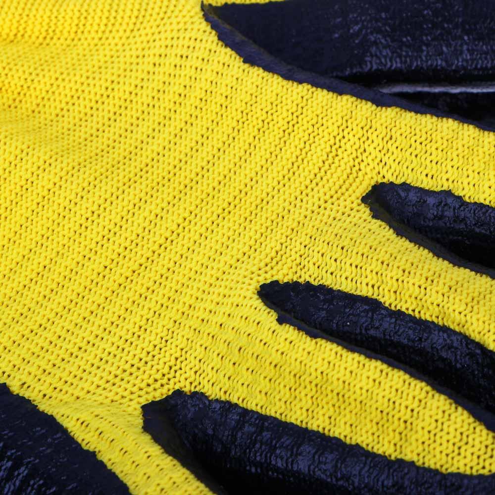 Перчатки садовые, нейлон с нитриловым полуобливом, 50 гр, 2 цвета,  10 размер, INBLOOM