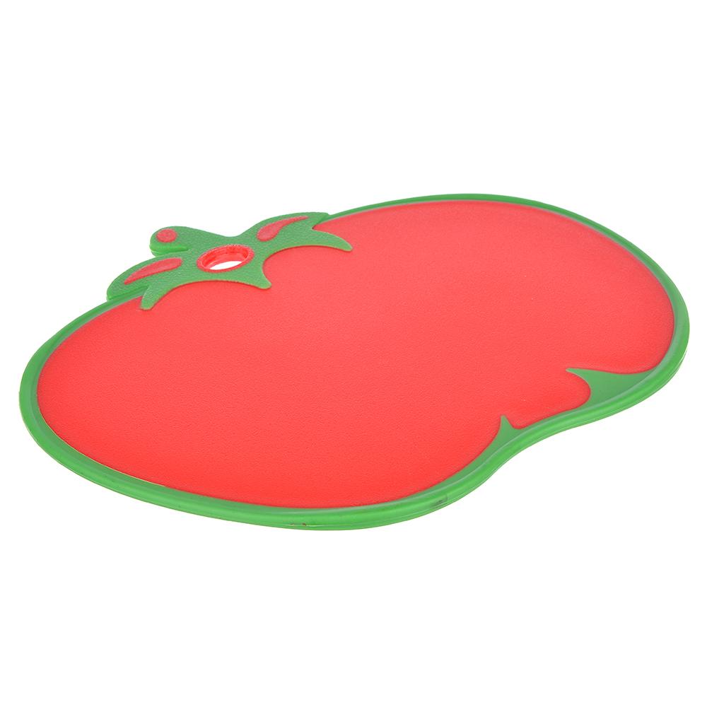 Доска разделочная в форме помидора, прорезиненный пластик, 32х26 см