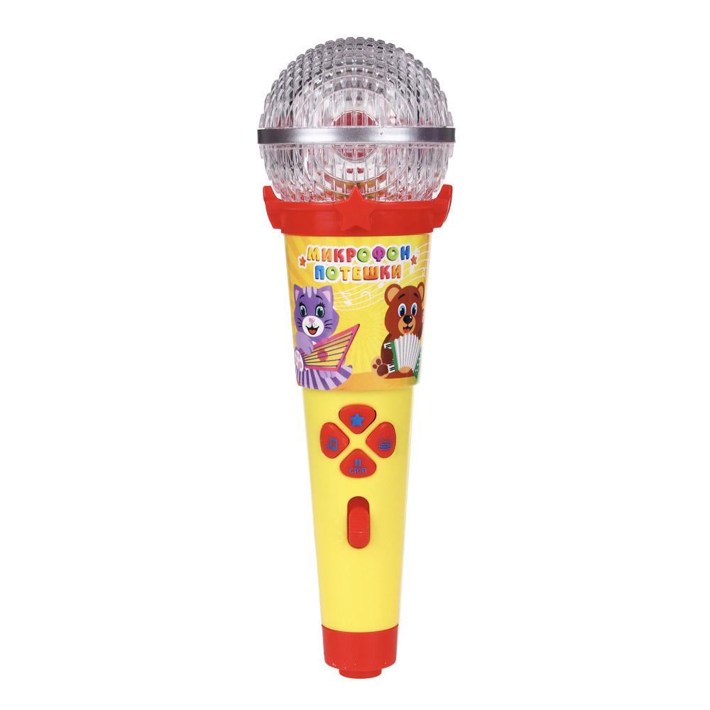 ИГРОЛЕНД Микрофон-караоке с подсветкой, звук, полимер, пит.3ААА, 21х6,5х6,5см