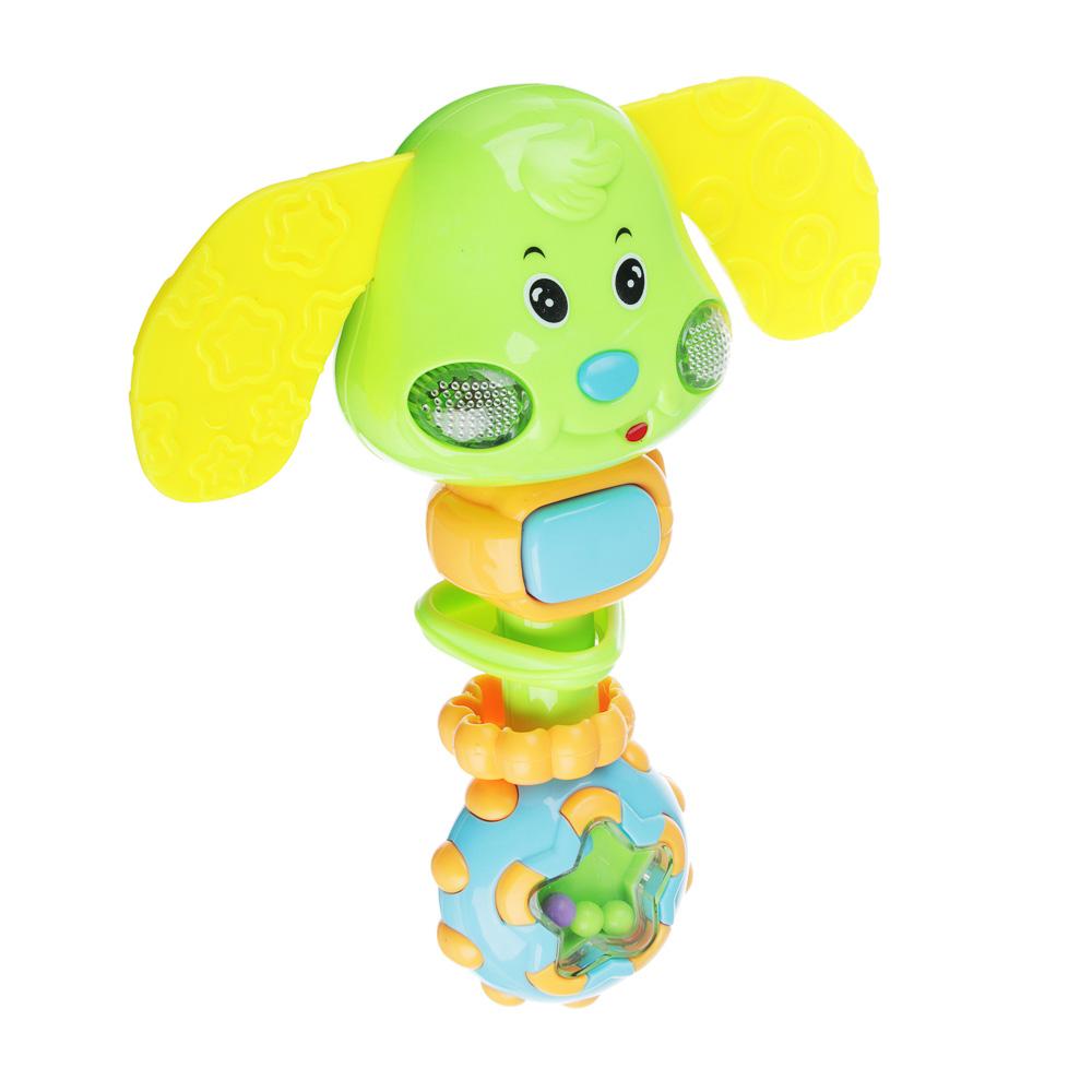 ИГРОЛЕНД Игрушка электронная музыкальная в виде зайчика/слоника, пластик, 2АG13, 19х6х4см