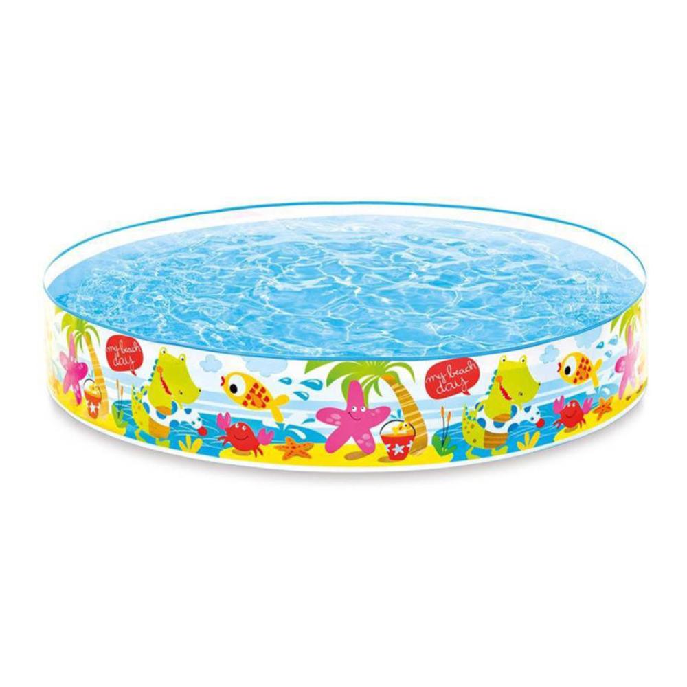 Надувной бассейн для детей INTEX 57441 Утиный риф 122х25 см с 3 лет