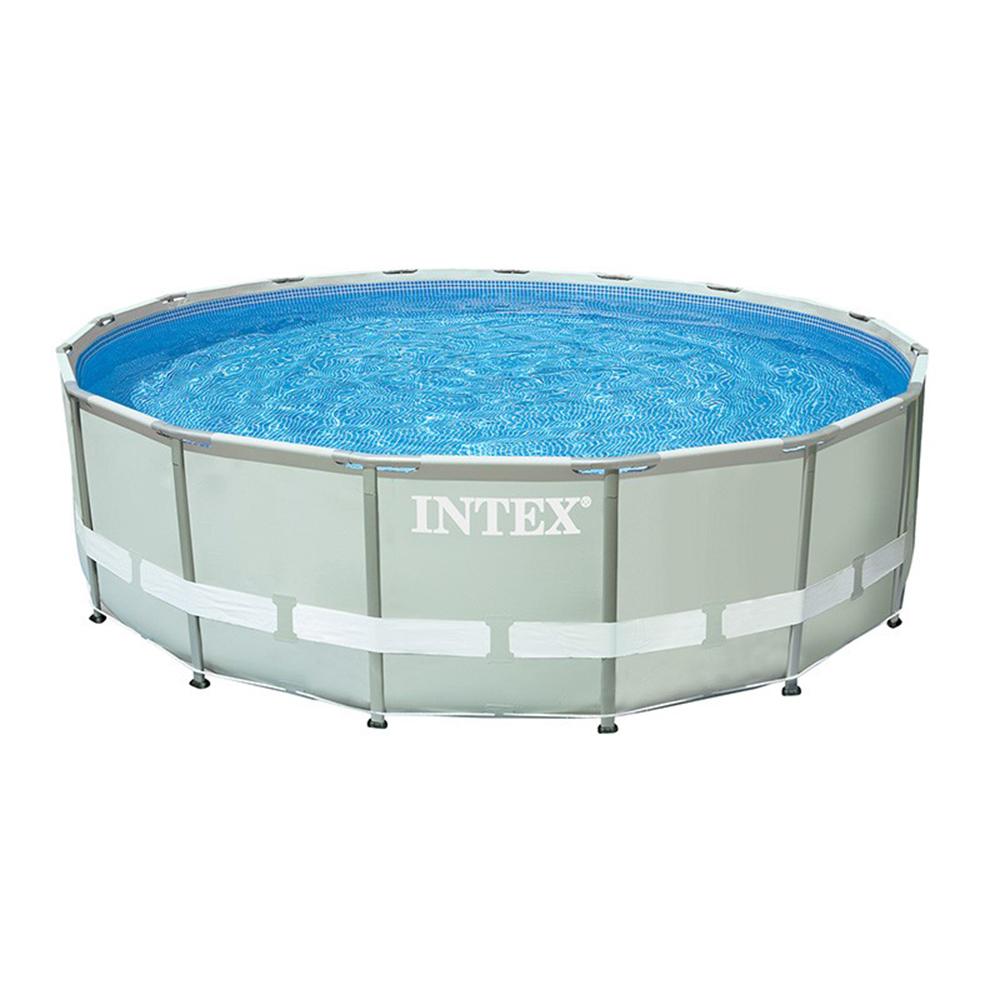 Каркасный бассейн призматический INTEX 26724 с фильтр-насосом, 457х107 см