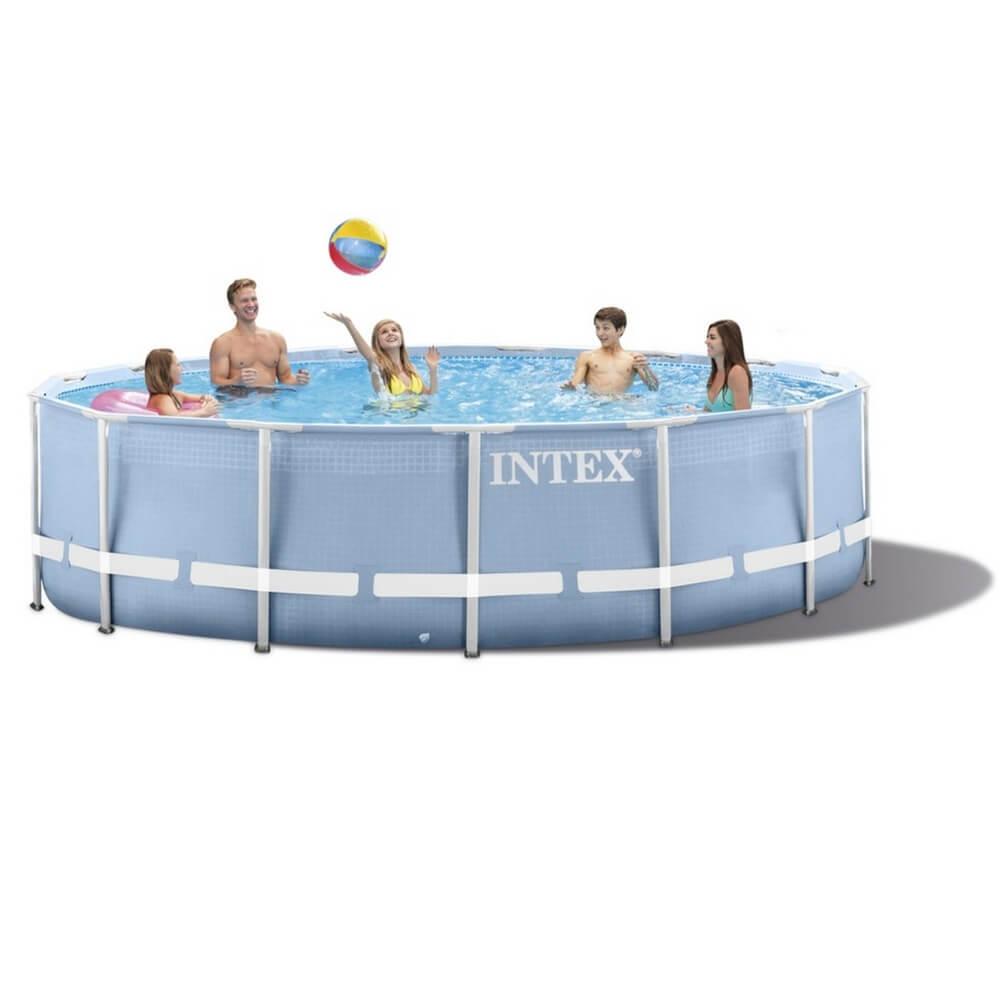 Каркасный бассейн призматический INTEX 26726 с фильтр-насосом, 457х122 см