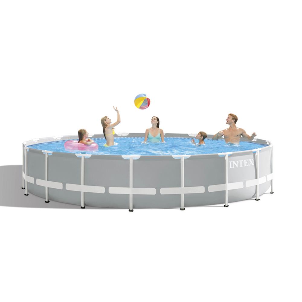 Каркасный бассейн призматический INTEX 26732 с фильтр-насосом, 549х122 см