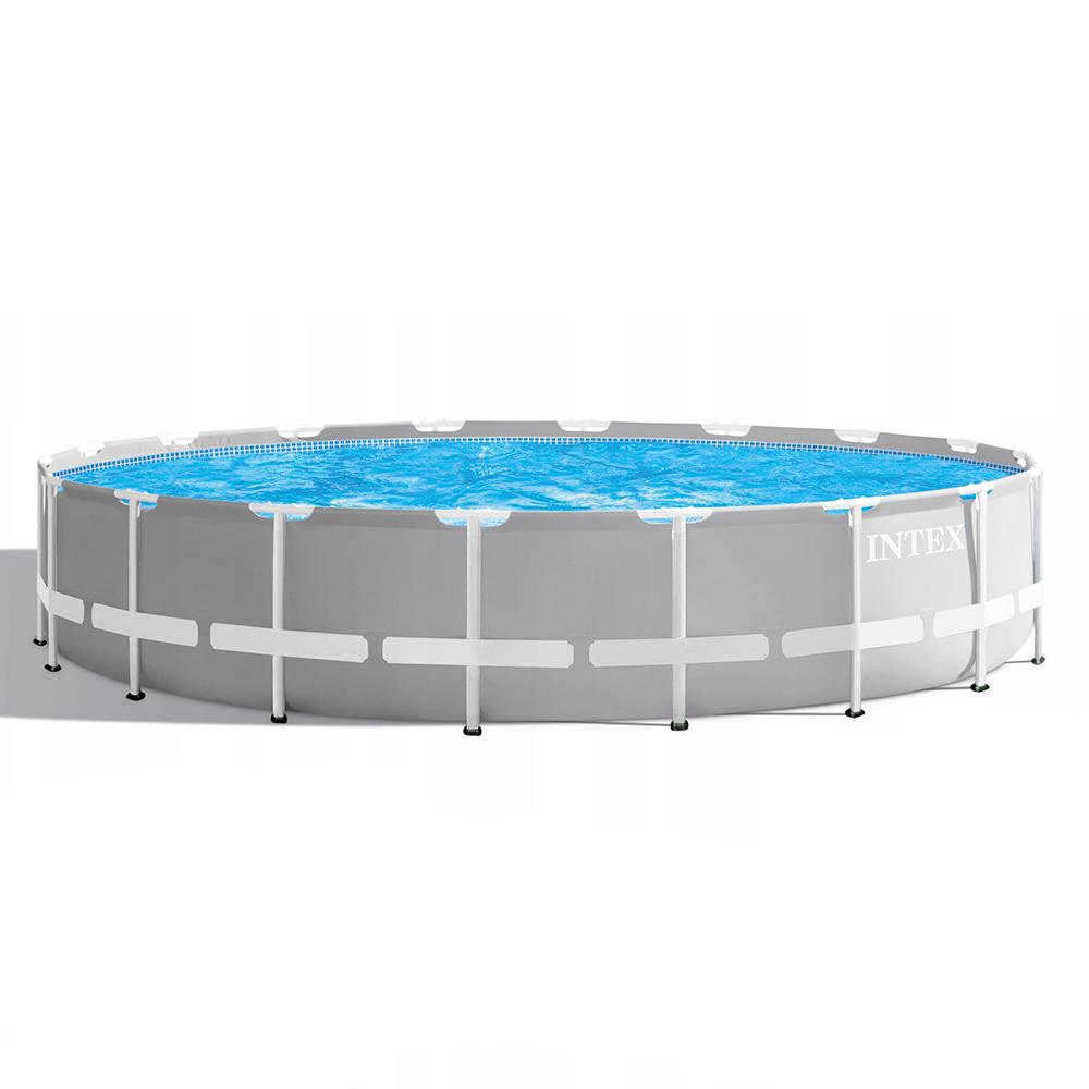 Каркасный бассейн призматический INTEX 26756 с фильтр-насосом, 610х132 см
