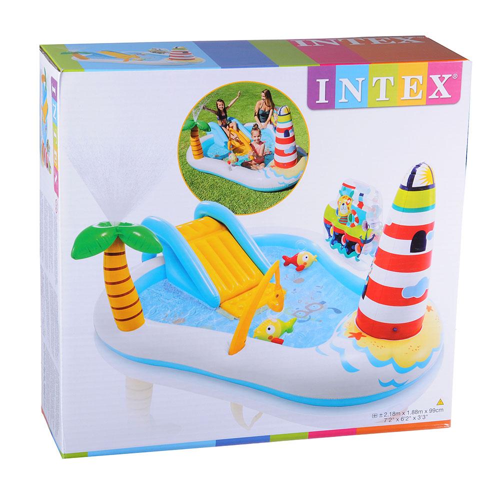Игровой центр, 218х188х99 см, возраст от 3 лет, INTEX Веселая рыбка, 57162