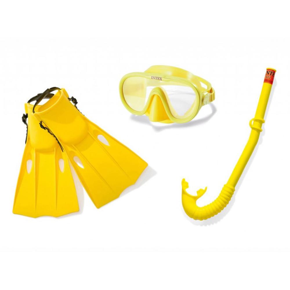Набор для плавания INTEX 55648 (маска, трубка, ласты) от 14 лет