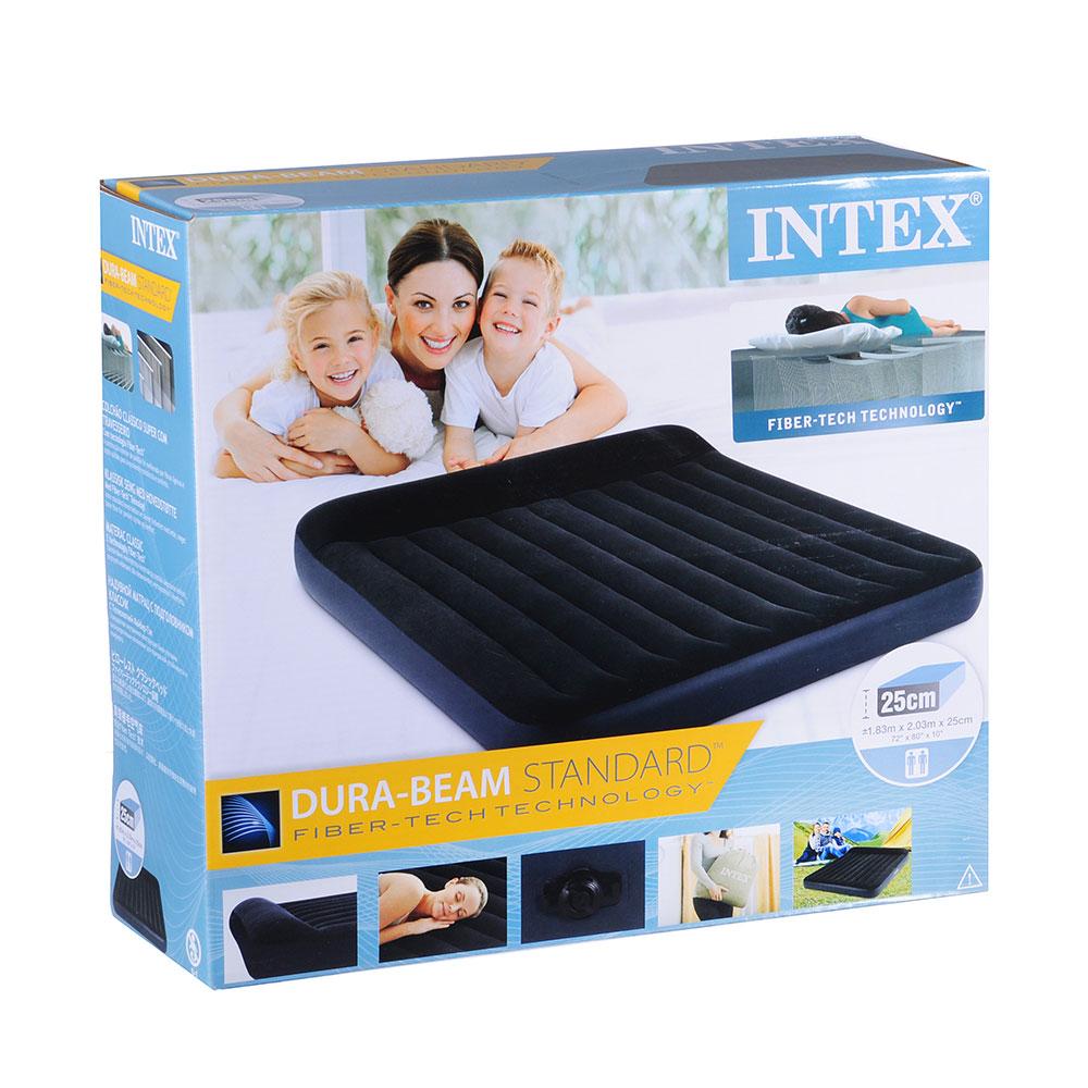 """Кровать надувная с подголовником, 183х203х25 см, INTEX """"КИНГ"""", 64144"""
