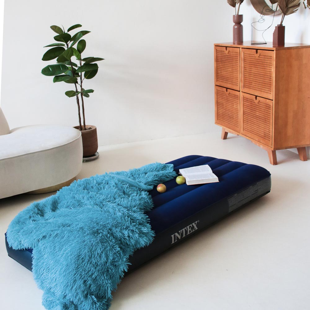 """Кровать надувная, FIBER-TECH, 76х191х25 см, INTEX """"Classic downy Cот"""", 64756"""