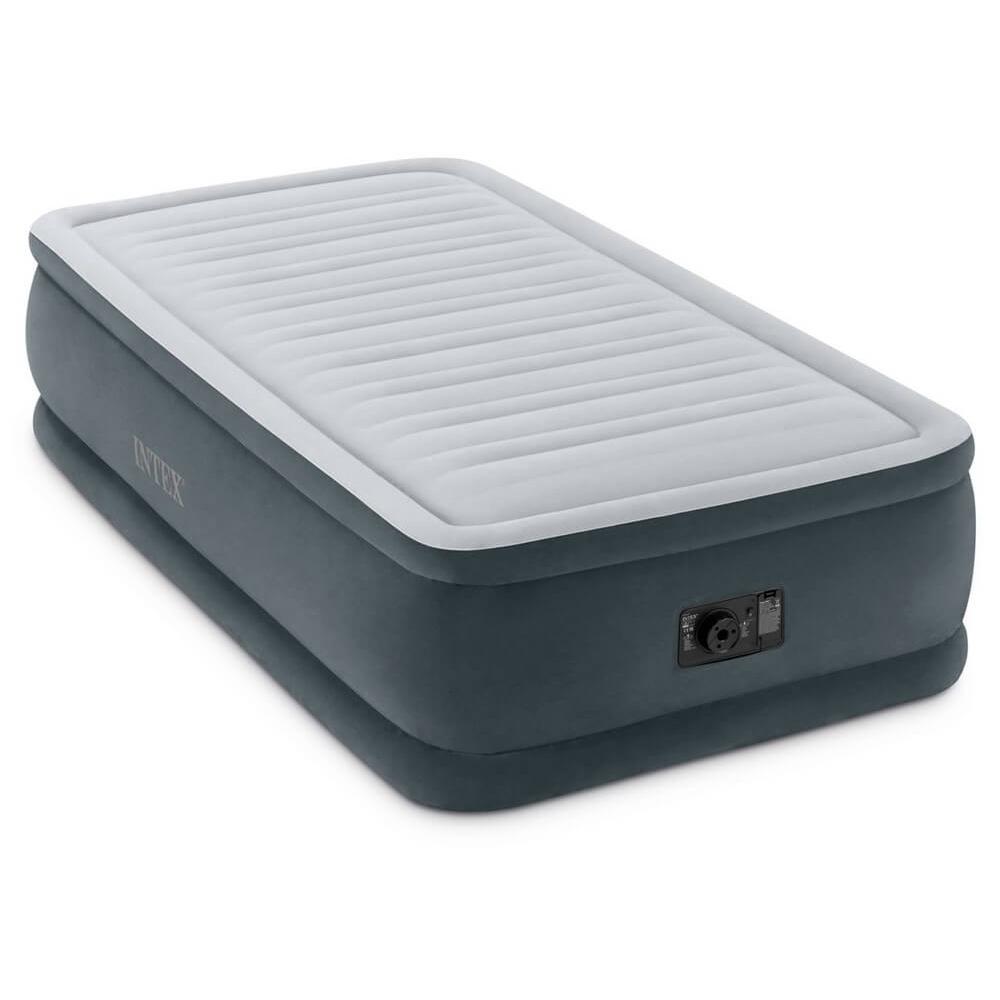 """Кровать надувная высокая со встроенным насосом, 220 В, 99х191х46 см, INTEX """"Комфорт твин"""", 64412"""