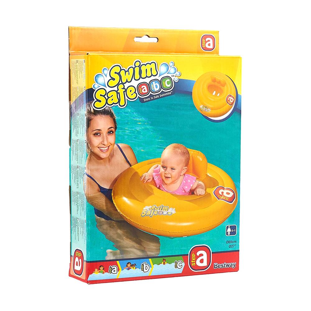 BESTWAY Круг для плавания со спинкой, Swiм Safe,69 см, 32096