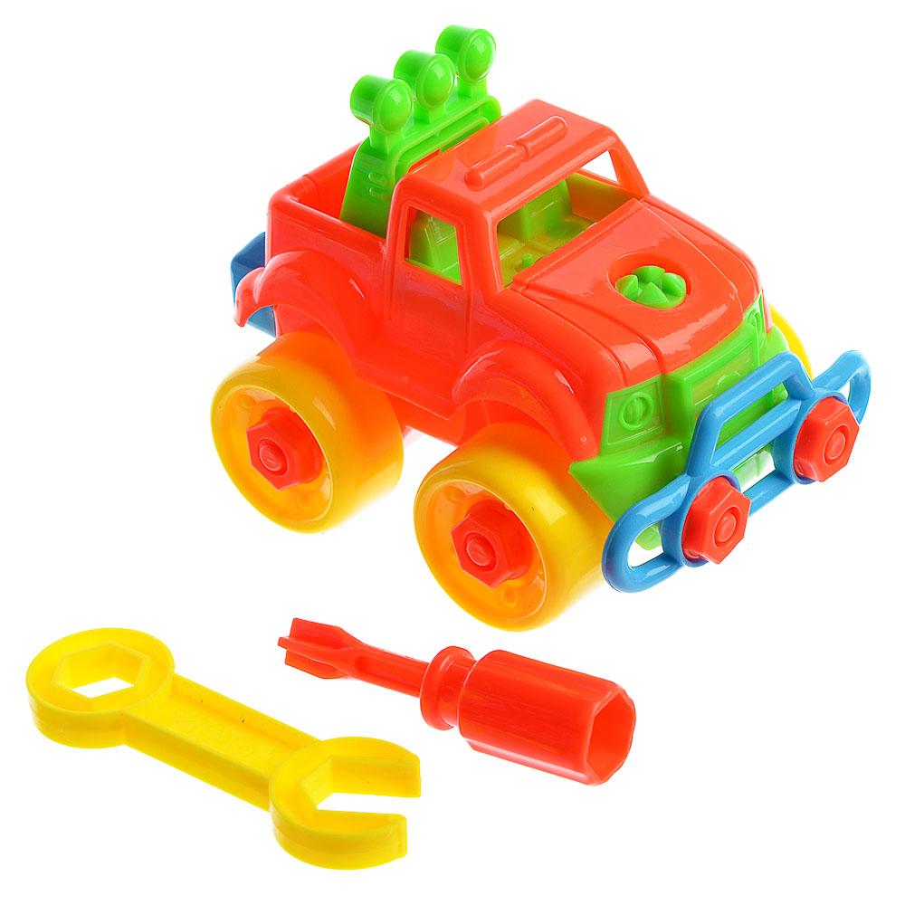 ИГРОЛЕНД Игрушка-конструктор в виде самолета/внедорожника, пластик, 17х15,5х13см, 6 дизайнов