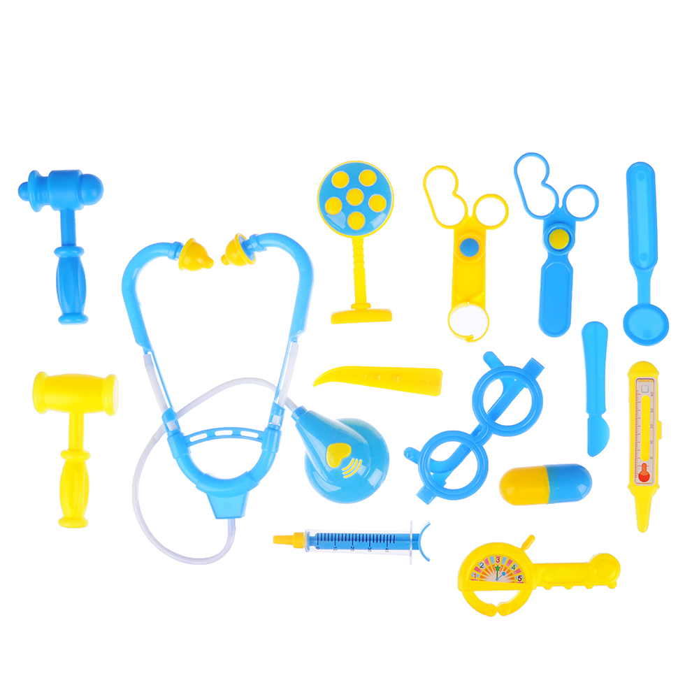 ИГРОЛЕНД Набор доктора в чемоданчике, 15 пр., пластик, 23х40х3,5 см, 2 цвета