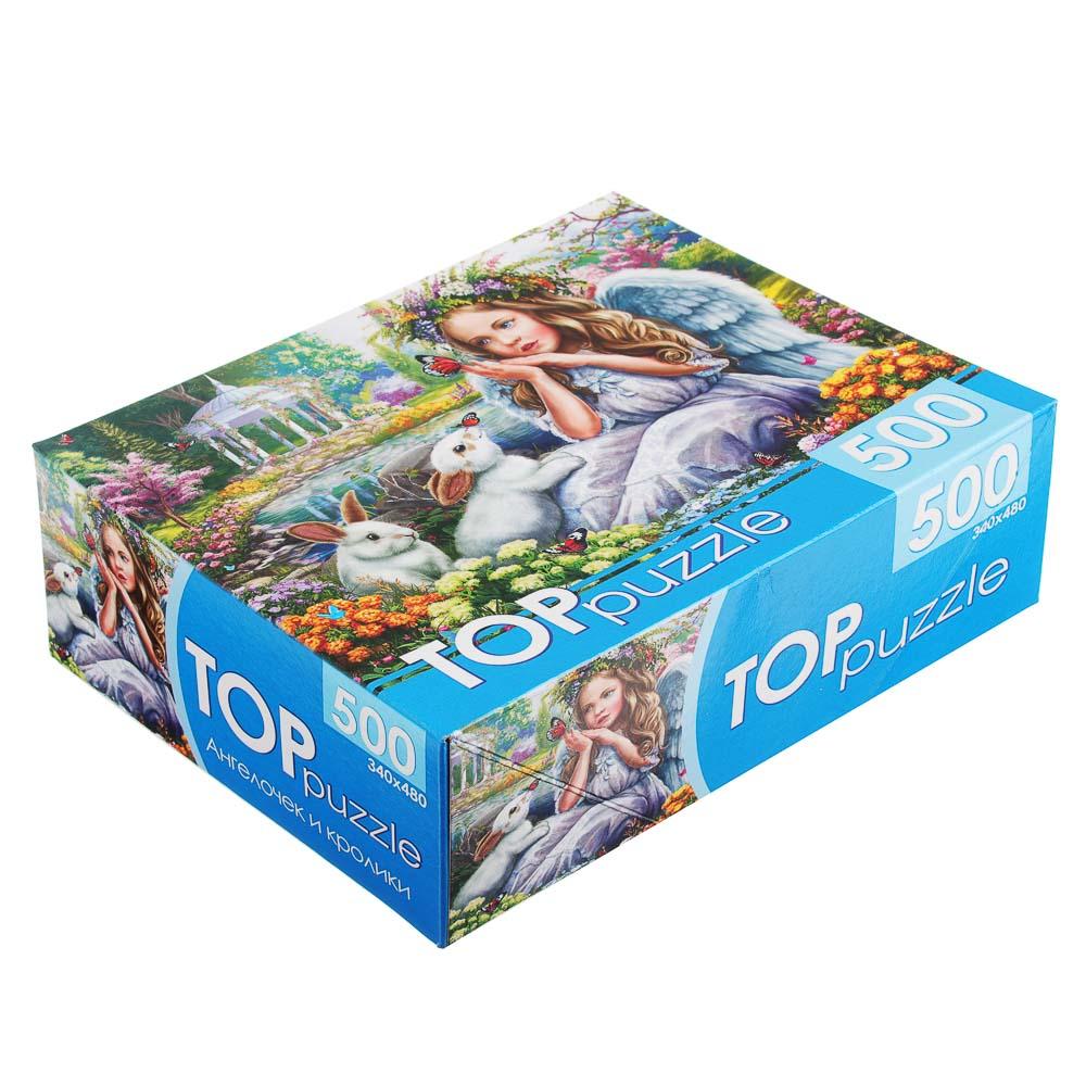 РЫЖИЙ КОТ Пазлы 500 деталей, картон, 19х15х6,5см, 10 дизайнов