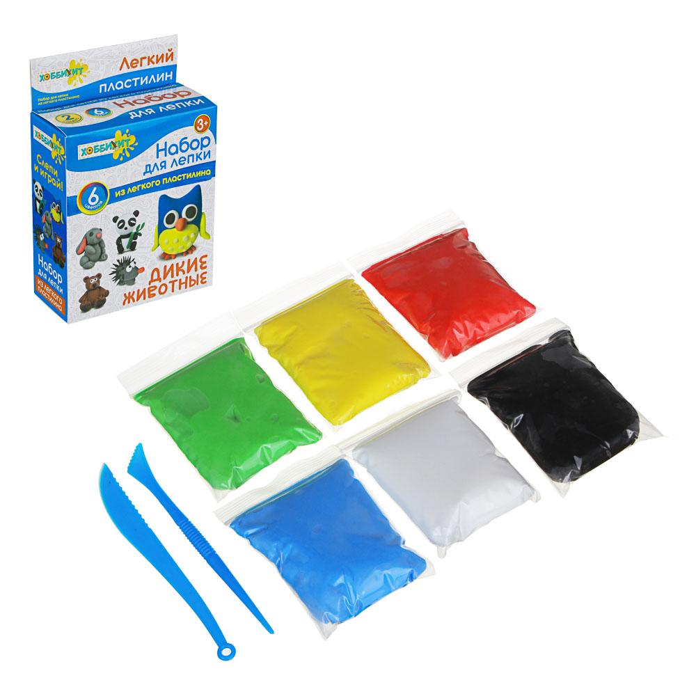 ХОББИХИТ Поделка из легкого пластилина, 35-40гр, полимер, 11х18,7х5см, 5 дизайнов