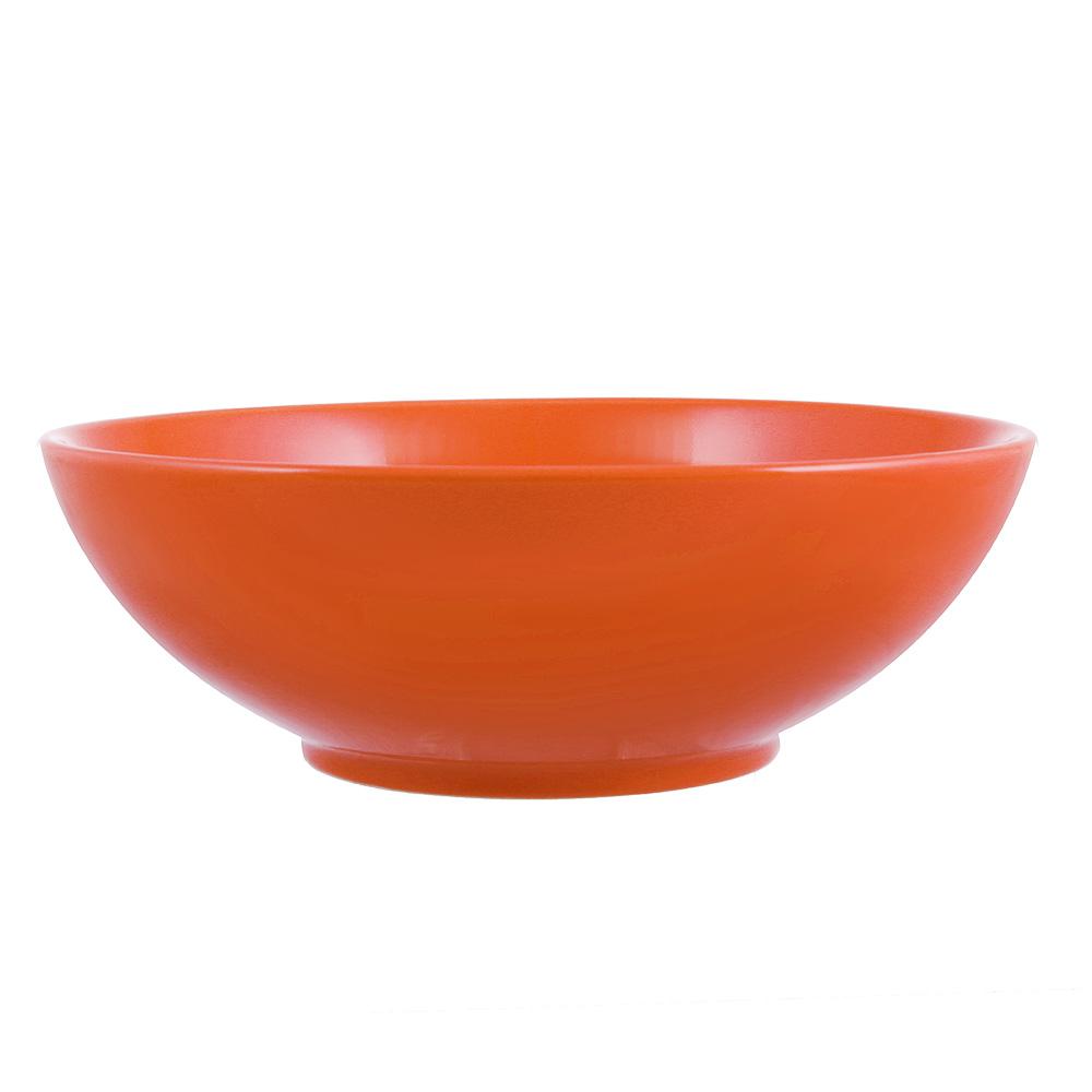 Глянец Салатник, 17,5см, 700мл, керамика, оранжевый