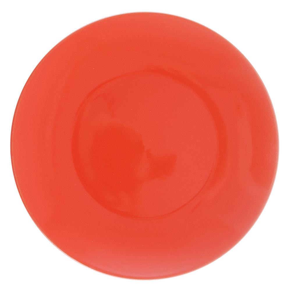 """Тарелка десертная d.20 см, керамика, оранжевая, """"Глянец"""""""