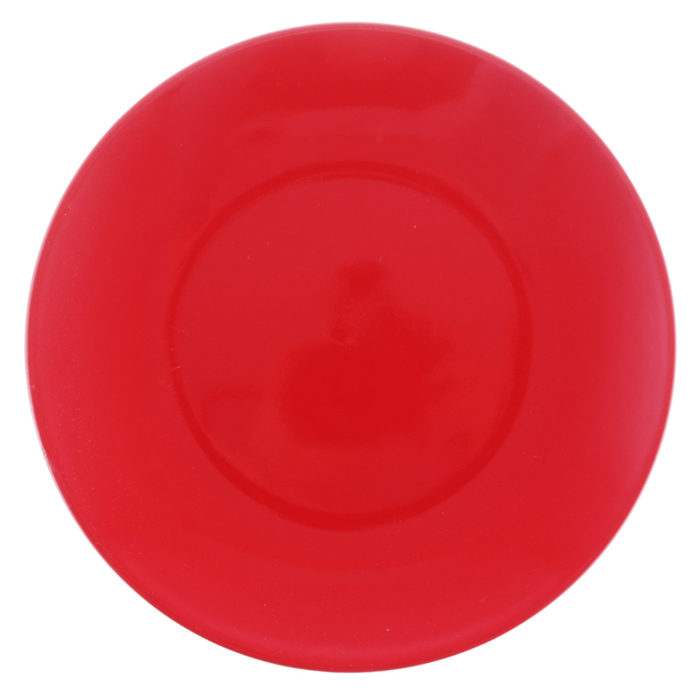 "Тарелка десертная d.20 см, керамика, красная, ""Глянец"""