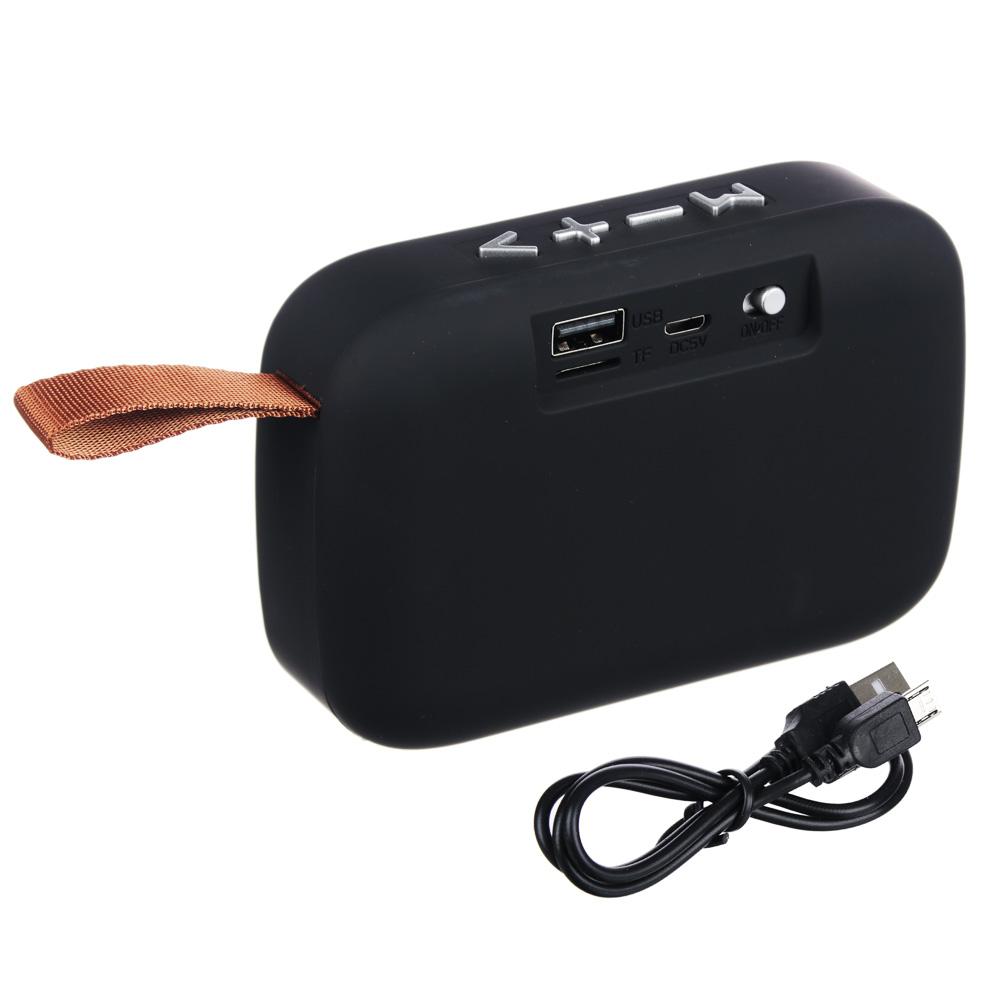 FORZA Аудиоколонка беспроводная, USB, MicroSD, AUX, матовое покрытие, ткань, пластик