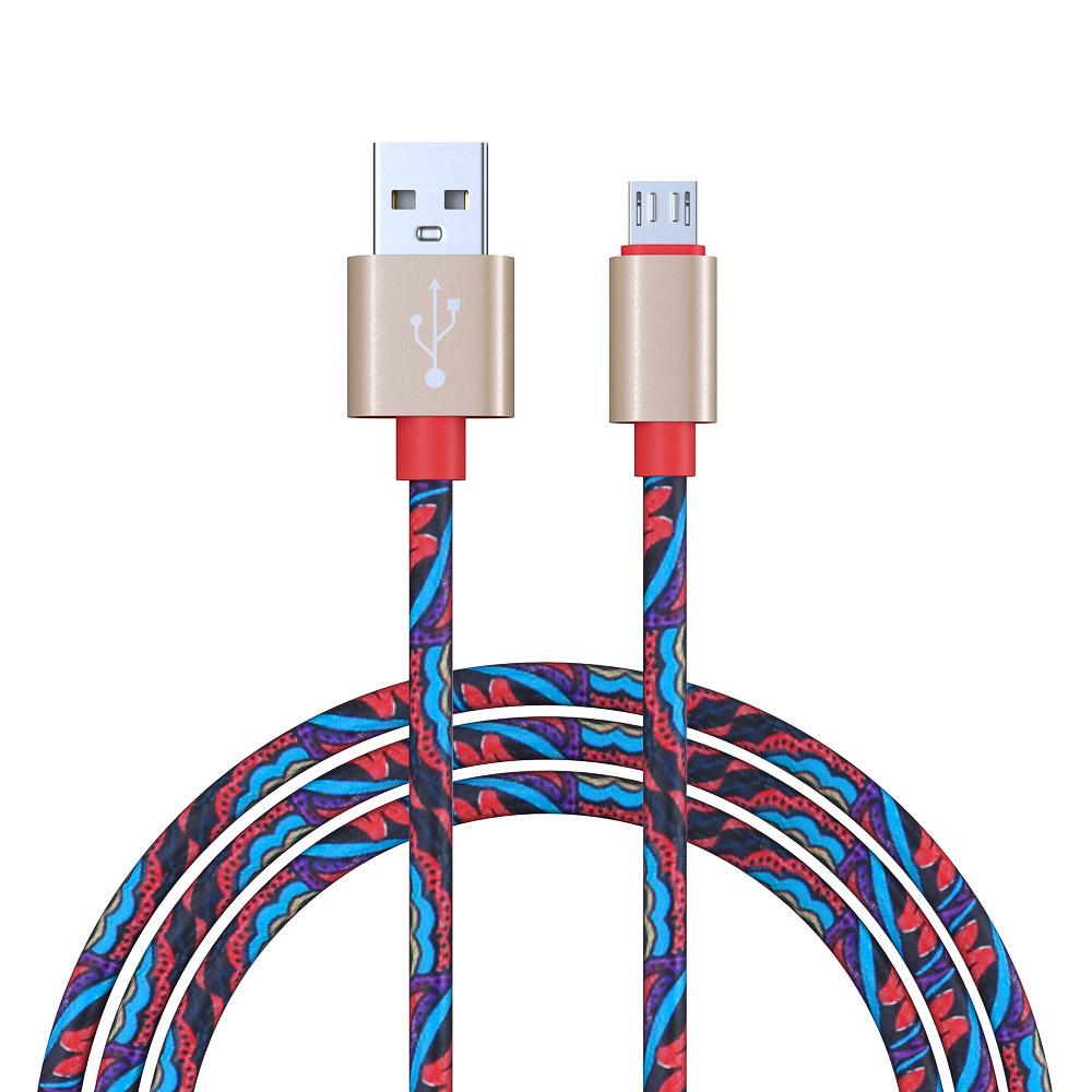 FORZA Кабель для мобильного телефона, оплетка с орнаментом, Micro USB, 1М, 1,5 A, пластик