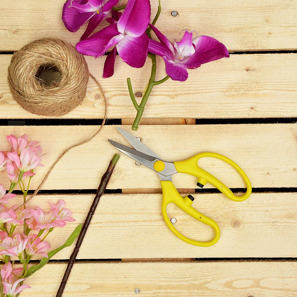 INBLOOM Ножницы для подрезки цветов 19см, сталь 4CR14, пластик