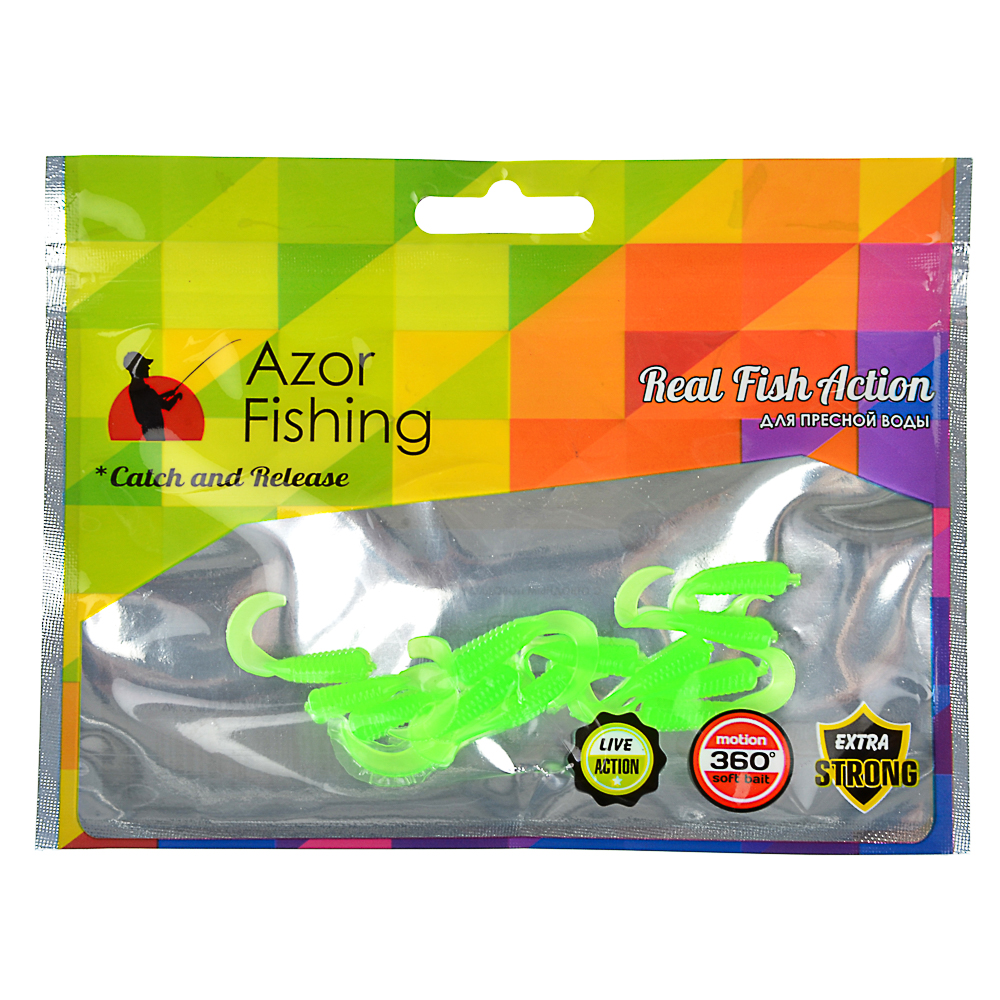 AZOR FISHING Приманка мягкая K.Good , силикон, 3см, 12шт. в уп, 3 цвета