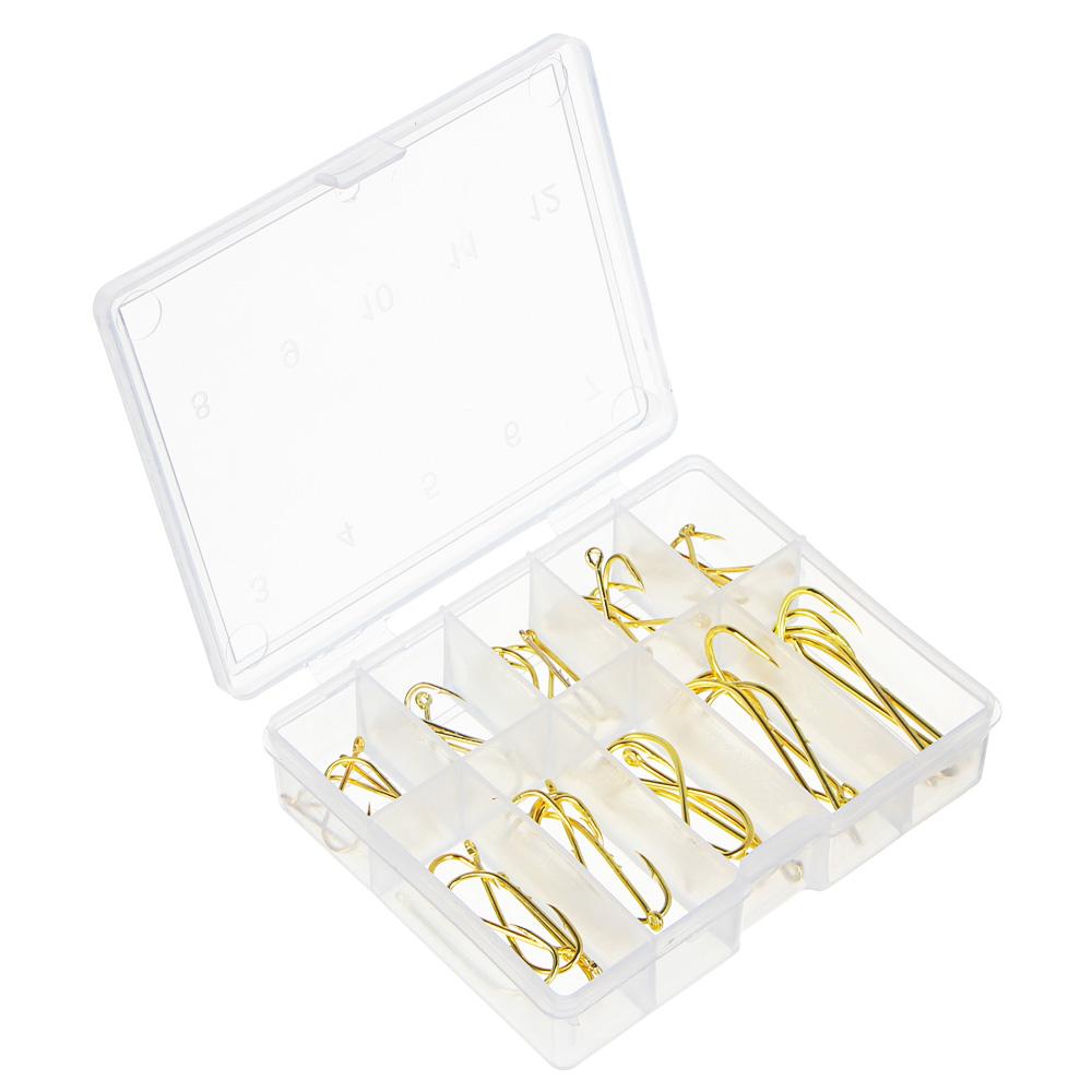 Набор крючков,50 штук, золото, 10 размеров