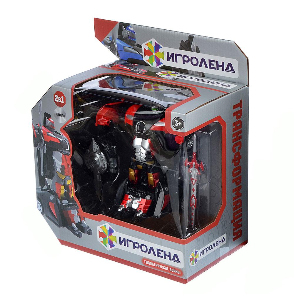 ИГРОЛЕНД Робот-машина, металл, пластик, 12,5х6х3,5см, 2 дизайна
