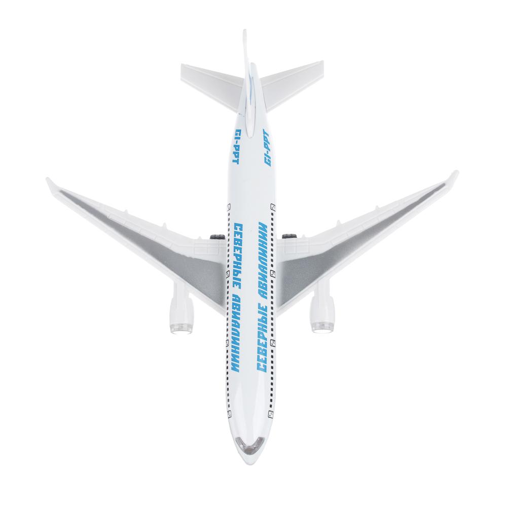 ИГРОЛЕНД Самолет инерционный, свет, звук, пластик, металл, 18,5х6х19см , 2 дизайна