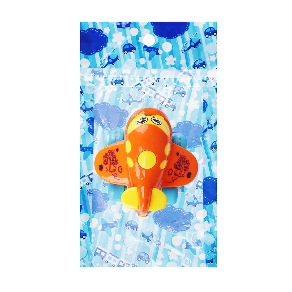 """МЕШОК ПОДАРКОВ Машинка инерционная """"Самолет"""", пластик, 12,5х19,5х6см, 4 дизайна, 100794564"""