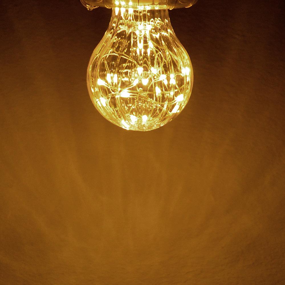 Лампочка с лентой подсветки, E27, A60, 105мм