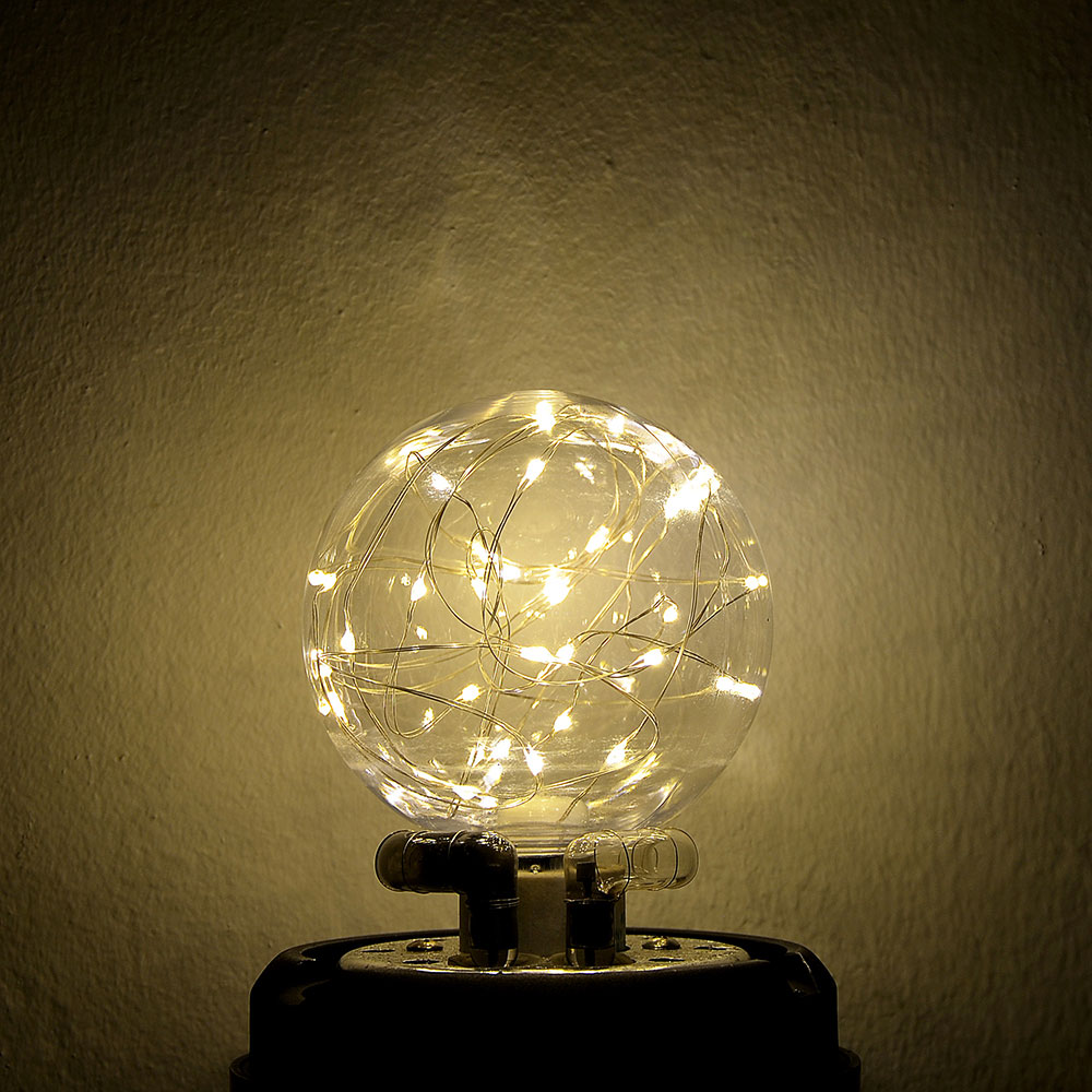 Лампочка с лентой подсветки, E27, A100, 125мм