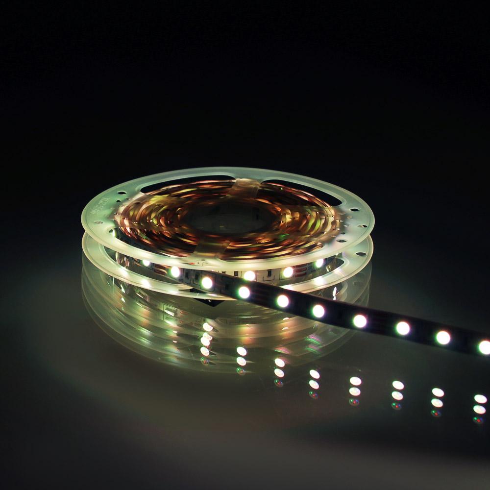 Подсветка рабочей зоны двойная, SMD 5050, RGB цветной, 5м, IP20, с резистором