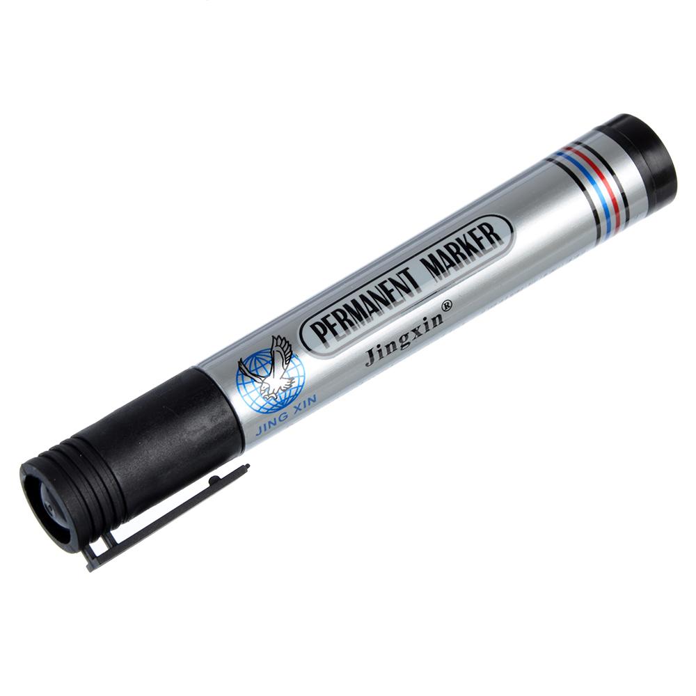 Маркер перманентный черный, пулевидный наконечник, линия 5мм, арт. 3200