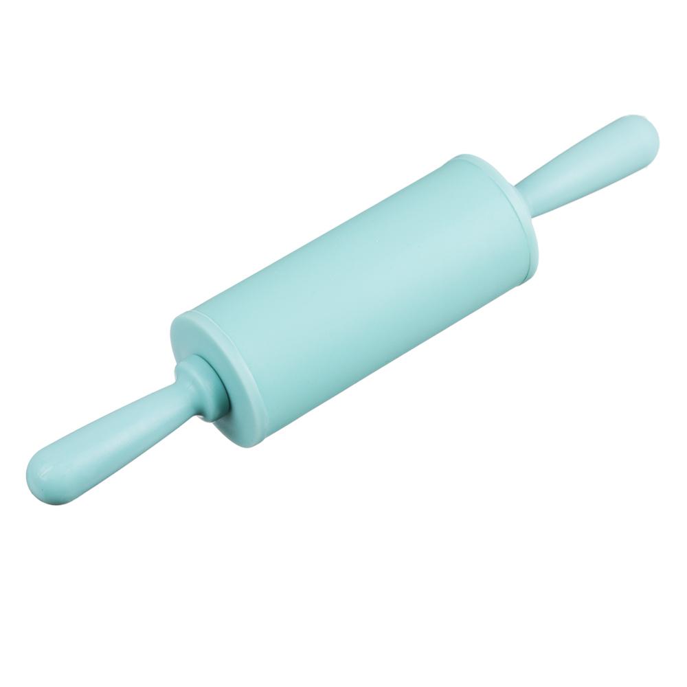 Скалка мини, 23х4 см, силикон/пластик, 4 цвета