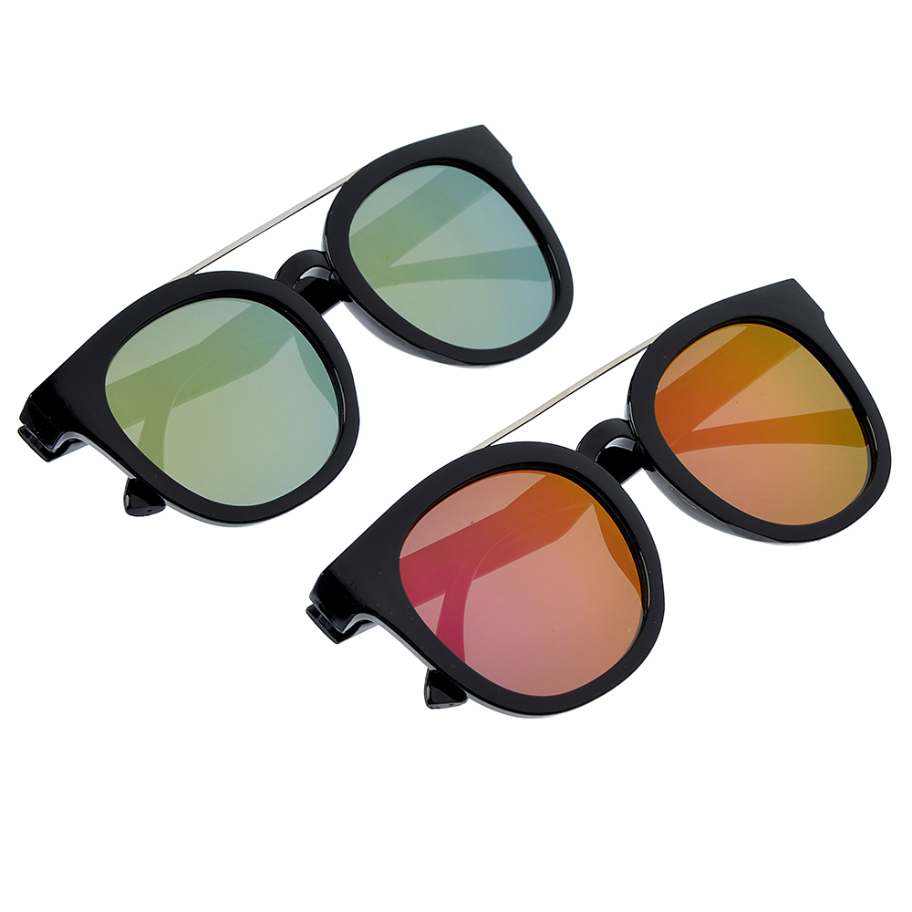 Очки солнцезащитные молодежные, пластик, металл, 14,5х5,5см, 2 цвета, ОС19-6