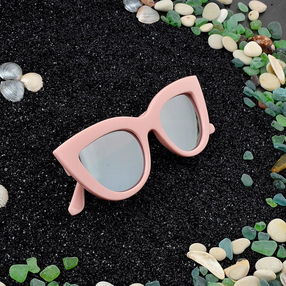 Очки солнцезащитные молодежные, пластик, 15х5,2см, 3 цвета, ОС19-9