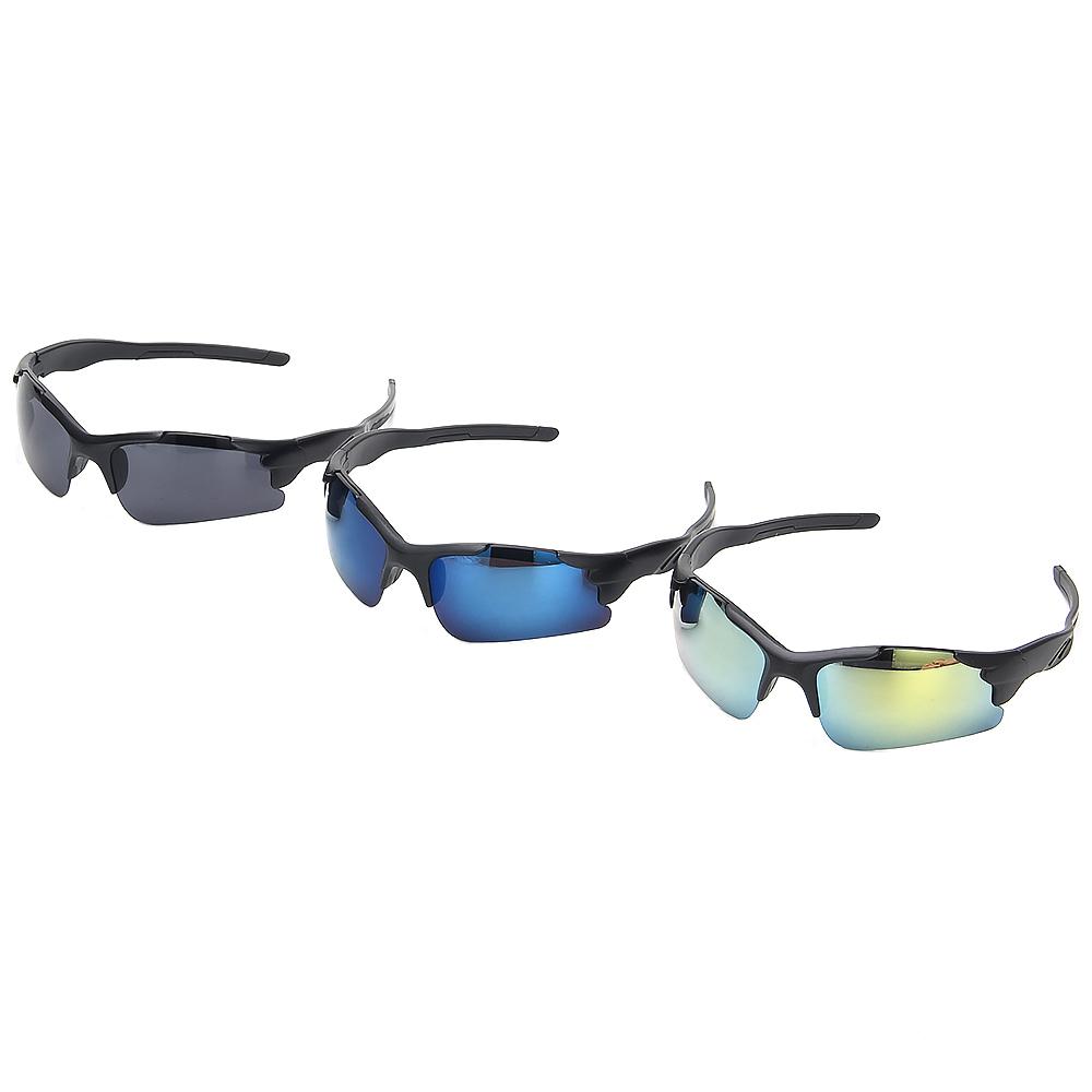 Очки солнцезащитные мужские, пластик, 19х4,3см, 3 цвета, ОС19-27