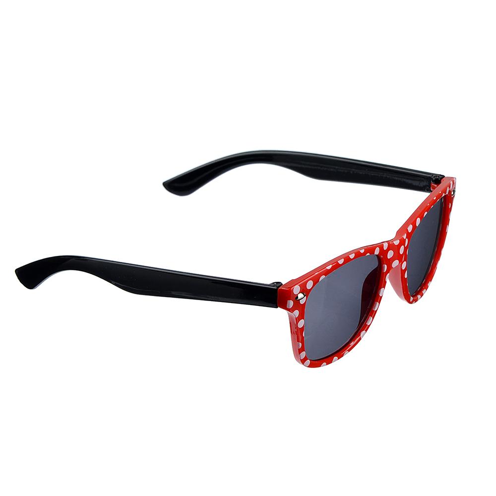 Очки солнцезащитные детские, пластик, 12,7х4,2см, 3 цвета, ОС19-28