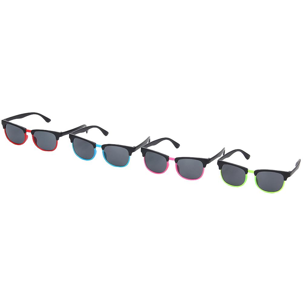 Очки солнцезащитные детские, пластик, 12,9х4,2см/12,7х4,3см/12,6х4,6см, 3 дизайна, 4 цвета, ОС19-31