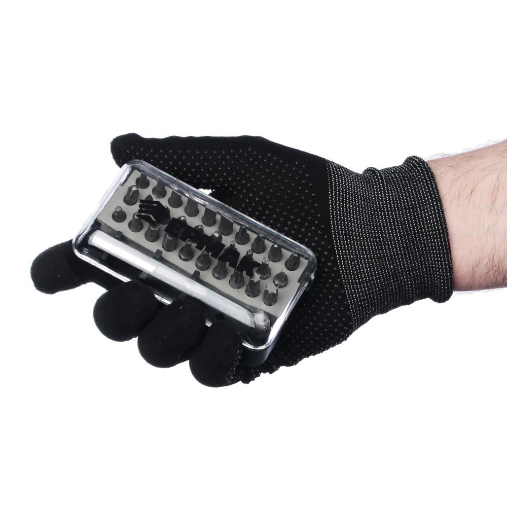 ЕРМАК Набор отвертка-адаптер с битами, АБС пластик, сталь