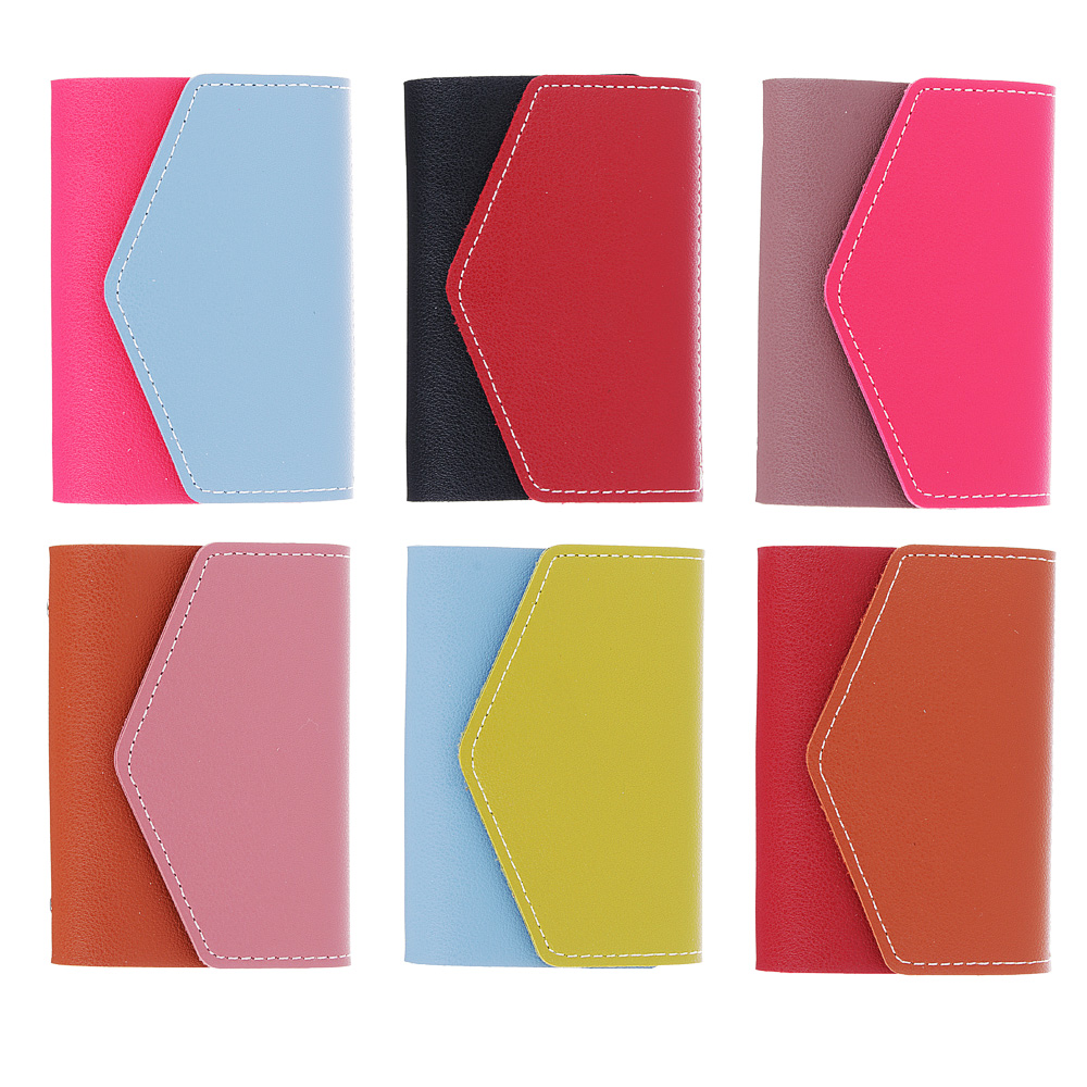 PAVO Визитница на 26 карт, ПУ, 10х7см, 4-6 цветов, ВК18-8