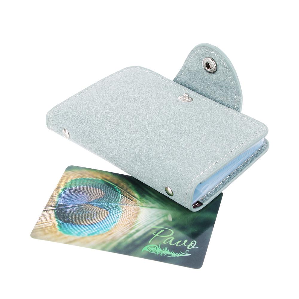PAVO Визитница на 26 карт, ПУ, 10х7см, 4-6 цветов, ВК18-3
