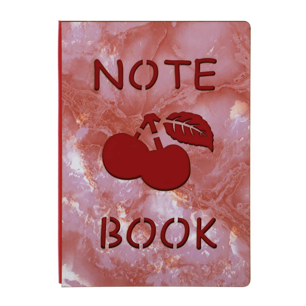 Записная книжка 80л, тверд.обл.из МДФ, вырубка, клетка, 21х14,6см, 2 дизайна