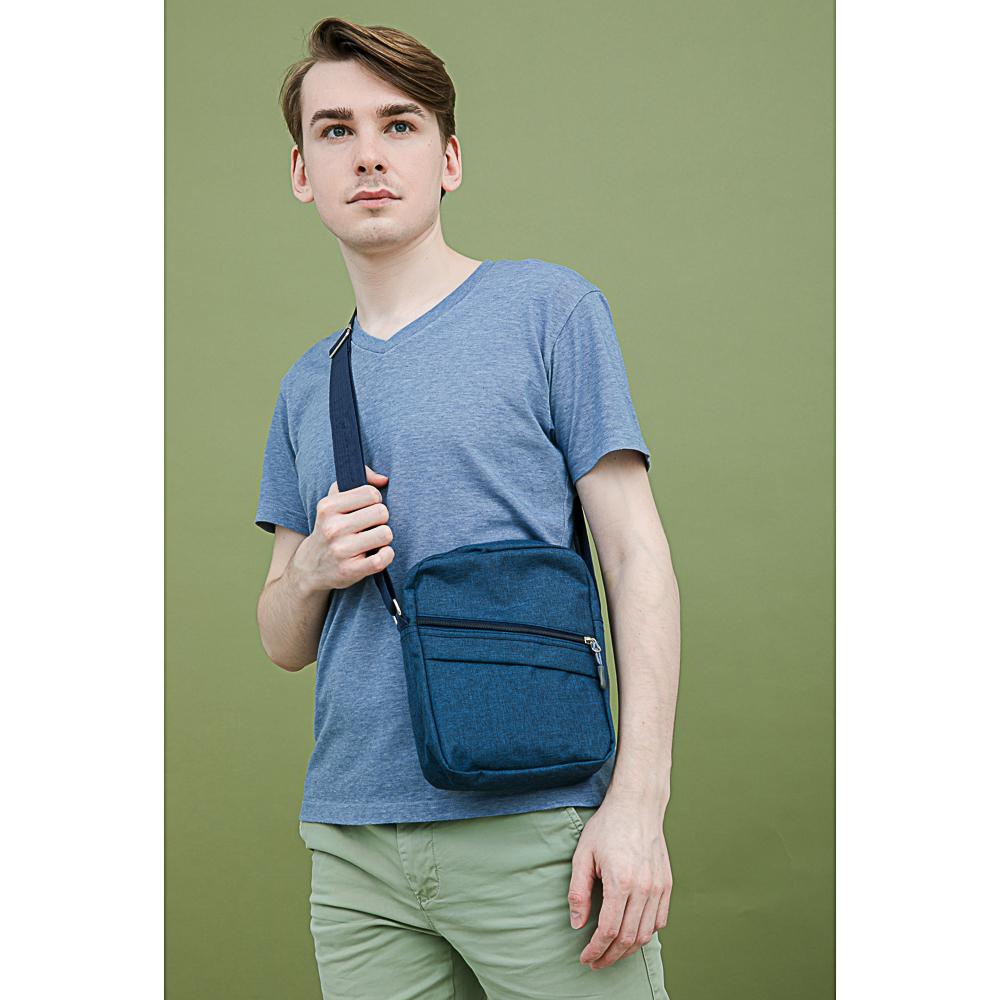 PAVO Сумка молодежная через плечо, полиэстер, пластик, 22х19х6см, 2 цвета, 3 дизайна