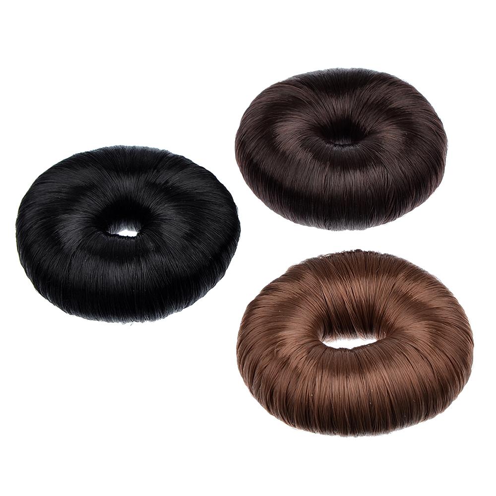 Заколка-бублик для волос, нейлон, 7,5см, 3 цвета