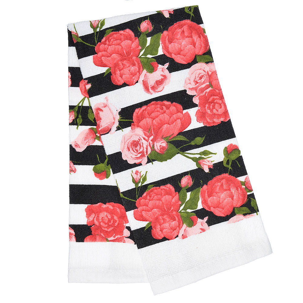 "Кухонное полотенце PROVANCE ""Розы"", 80% хлопок 20% полиэстер, 38х63 см"