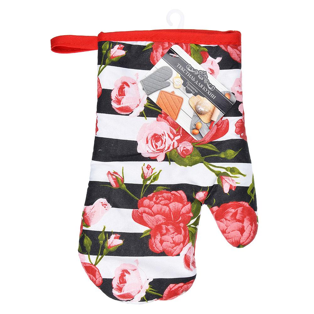 Розы Прихватка-варежка, полиэстер, 27см, GC