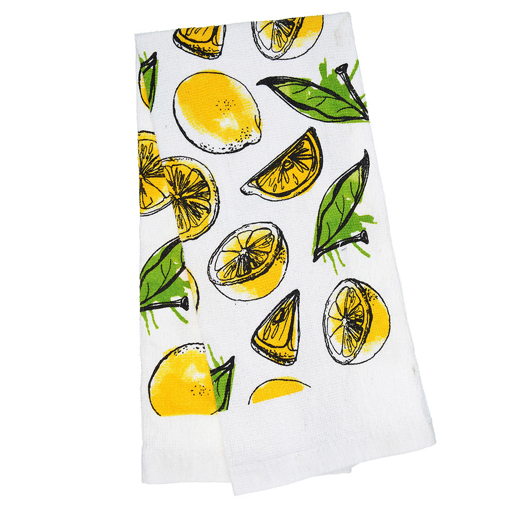 PROVANCE Лимоны Полотенце кухонное, 80% хлопок 20% полиэстер, 38х63см, GC